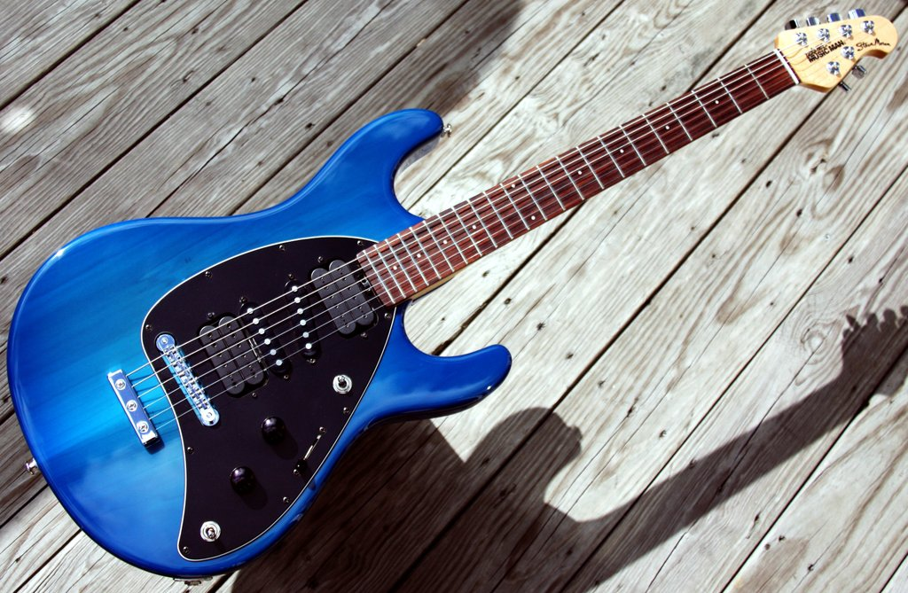 fs gibson sg standard with wcr darbursts music man steve morse with new pickguard my les. Black Bedroom Furniture Sets. Home Design Ideas
